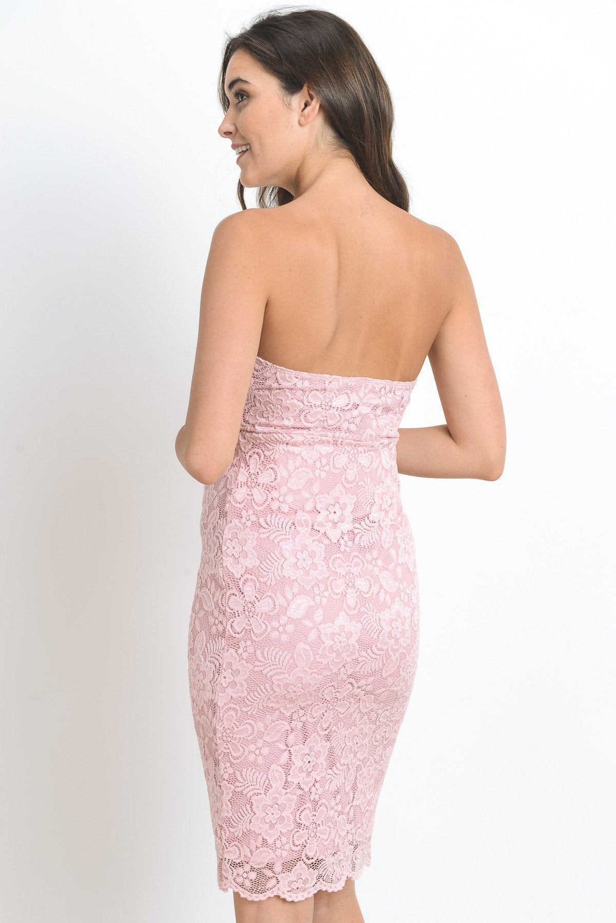 Strapless Lace Maternity Dress