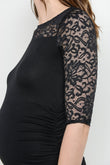 Lace and Draped Jersey Maternity Dress