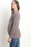 Tulip Hem Long Sleeve Maternity & Nursing Top