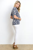 Feather Scoop Neck Maternity & Nursing Top