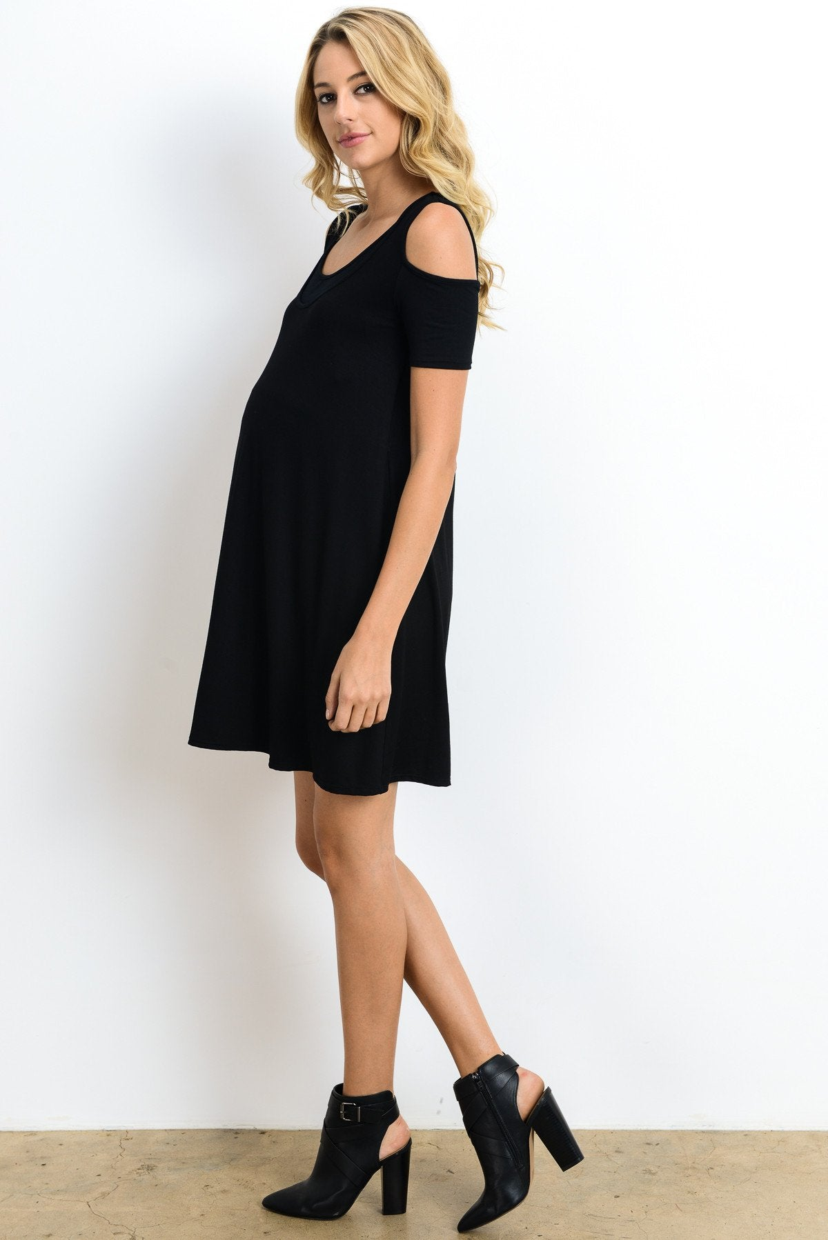 Everyday Cold Shoulder Maternity & Nursing Dress