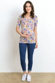 Casual Scoop Neck Maternity & Nursing Top