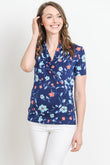 Floral Short Sleeve Maternity & Nursing Surplice Top