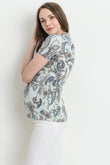 Paisley Maternity & Nursing Surplice Top