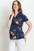 Floral Surplice Maternity/Nursing Top