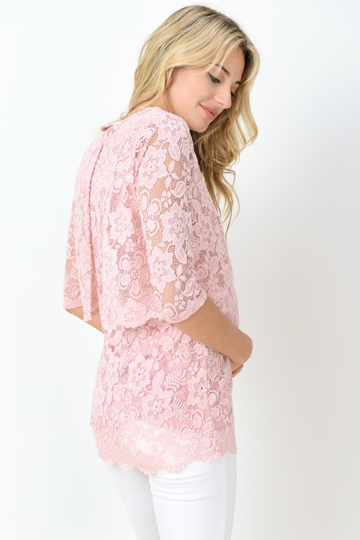 Soft Lace Maternity & Nursing Top