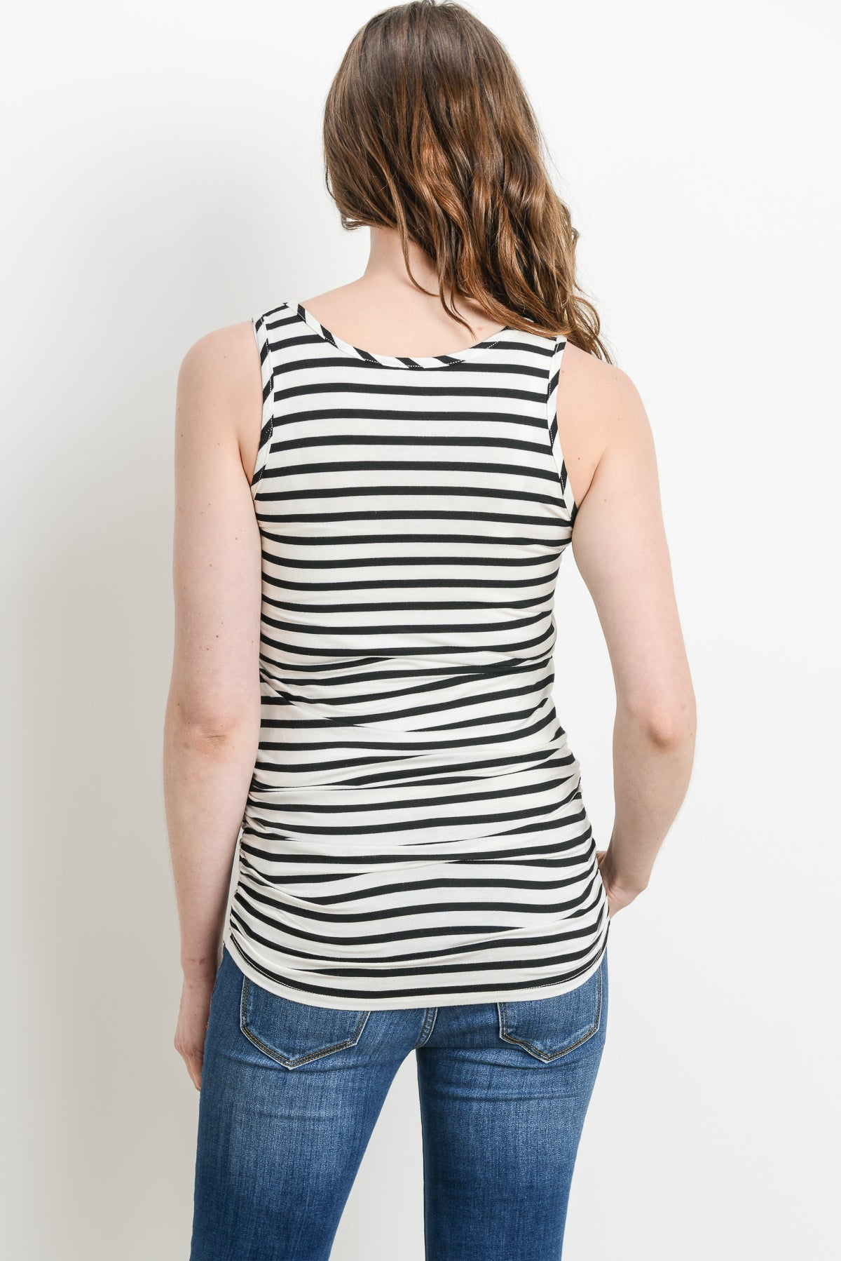 Striped Maternity & Nursing Tank Top