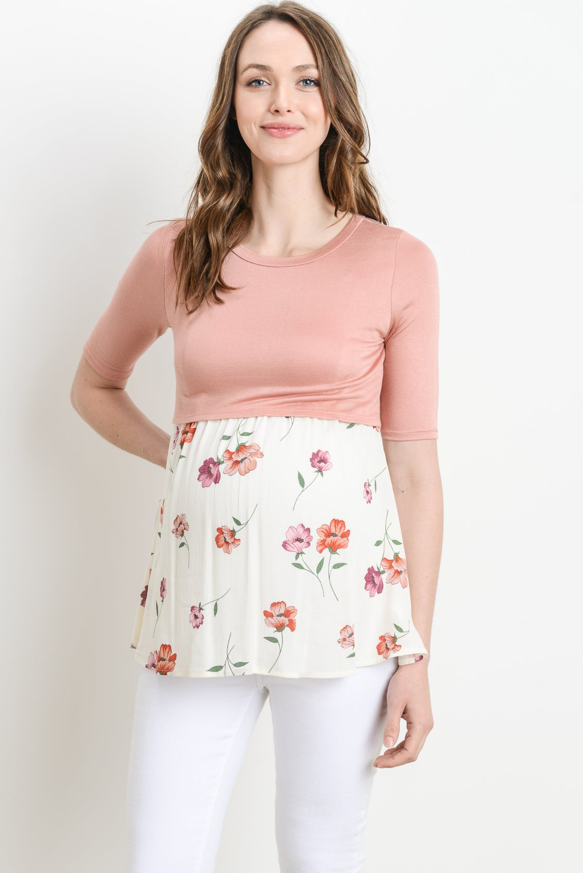Floral Maternity/Nursing Tunic