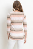 Striped Surplice with Button Maternity & Nursing Top