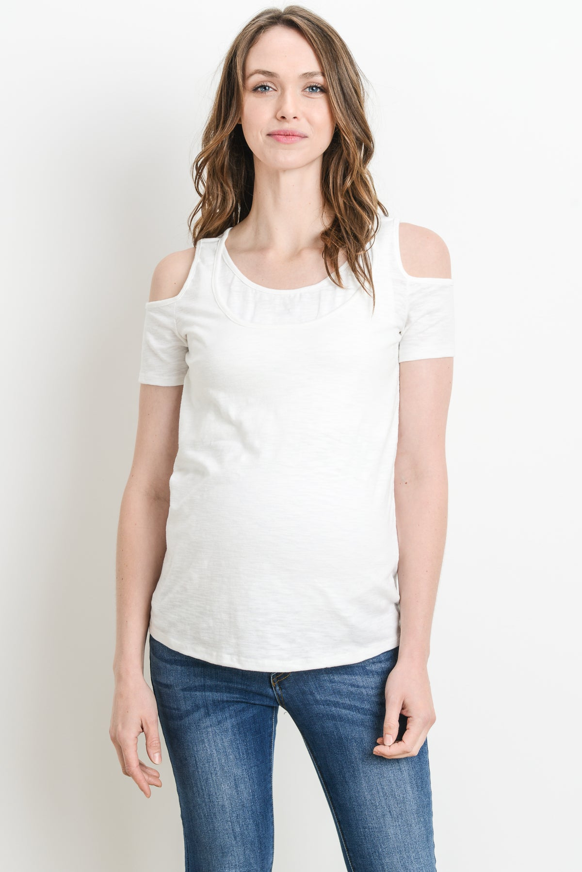 Casual Cold Shoulder Maternity & Nursing Top