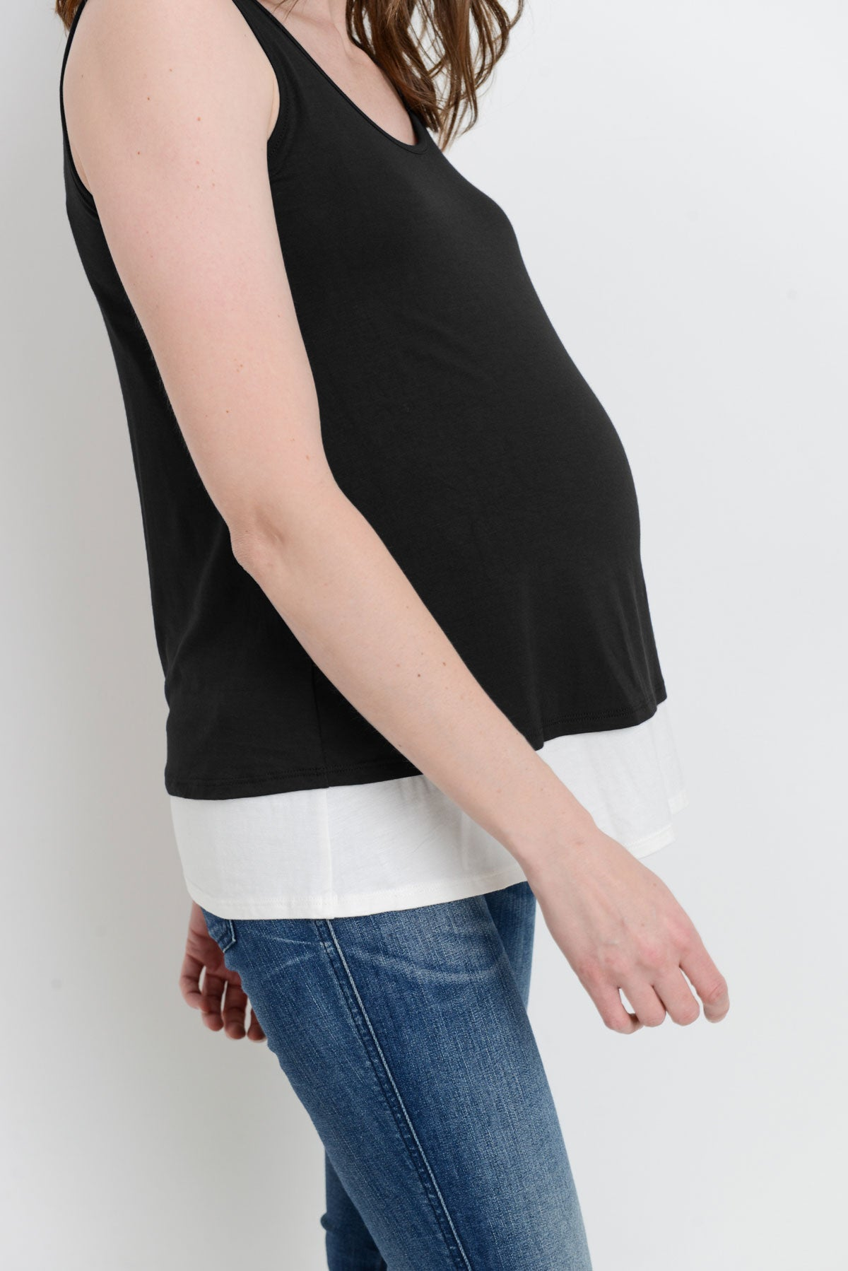 Sleeveless Maternity/Nursing Tunic Top