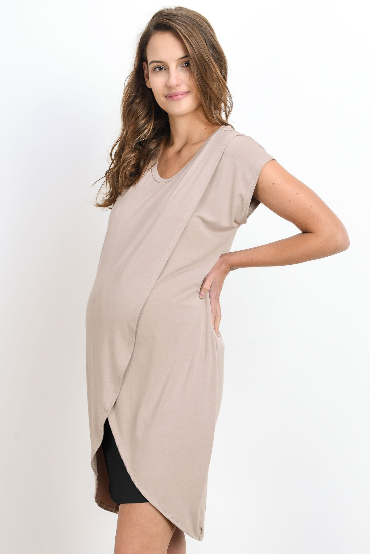 Two Color Layer Maternity & Nursing Dress