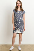 Tulip Hem Layer Maternity & Nursing Dress