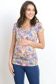 Casual Round Neck Maternity & Nursing T-Shirt