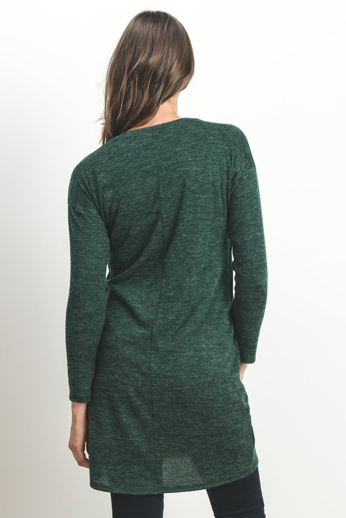 Long Sleeve Maternity & Nursing Sweater Tunic