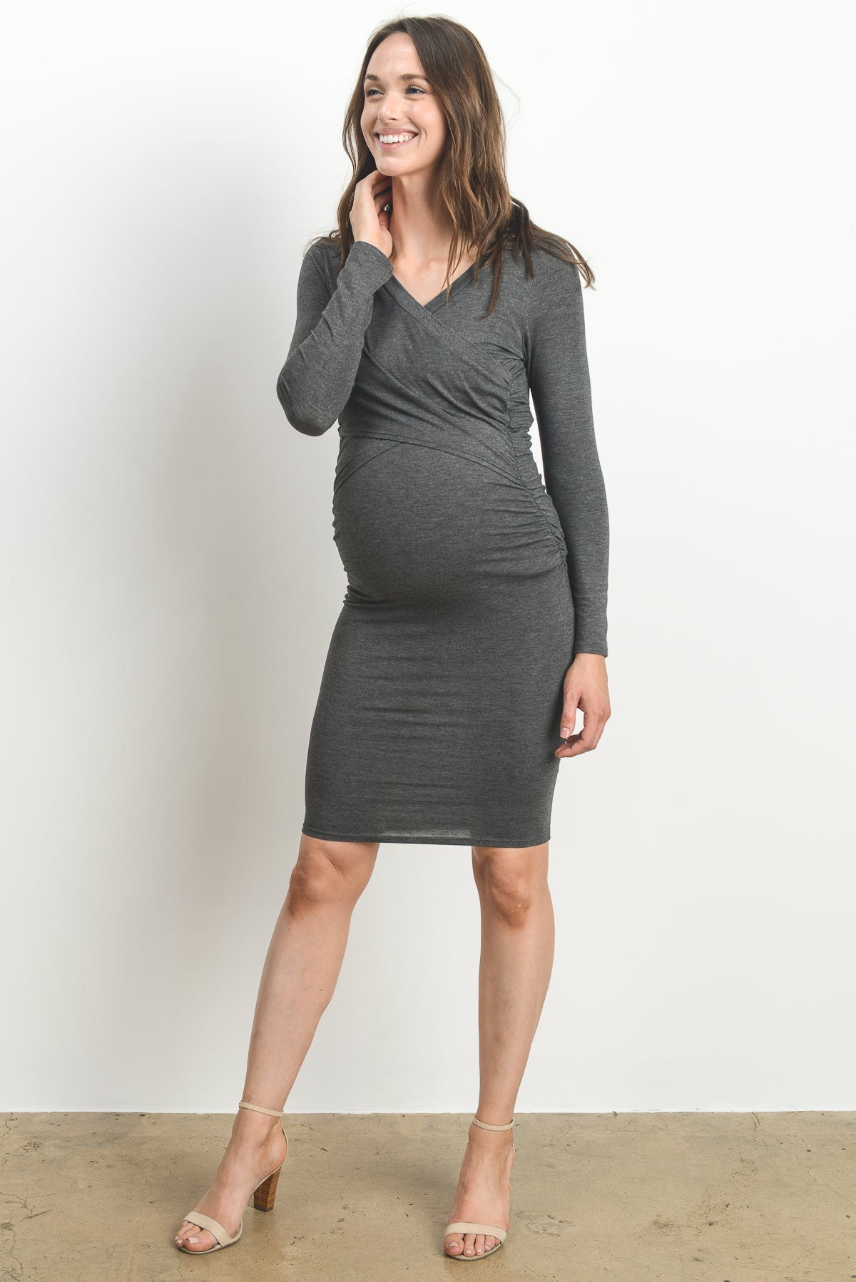 Cross Front Maternity & Nursing Dress