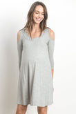 Casual Cold Shoulder Maternity & Nursing Dress