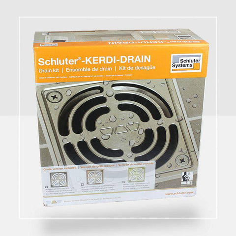 "Schluter® KERDI 4"" ABS - Stainless Steel Drain Kit - customeps"