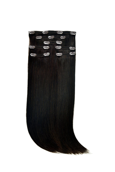 Clip-In Hair Extensions Set #1B Natural Black