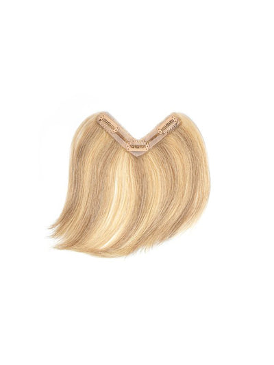 Clip-In Bangs Hair Extension #R4/18/22 Rooted Golden Blonde