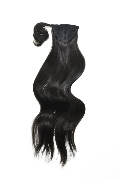 Clip-In Pony Tail Hair Extension #1B Natural Black