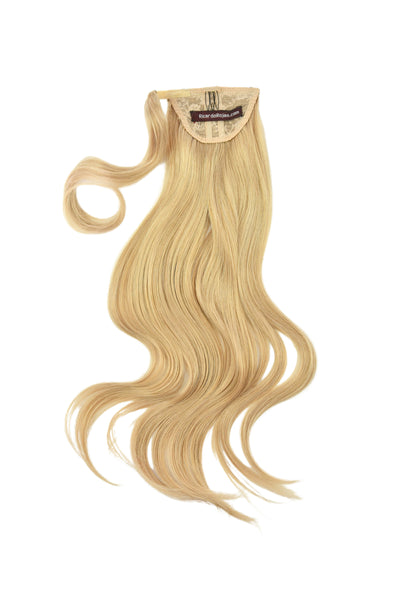 Clip-In Pony Tail Hair Extension #R4/18/22 Rooted Golden Blonde