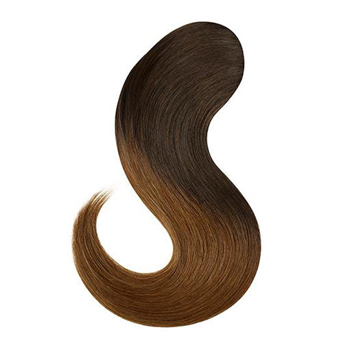 CLIP-IN PONY TAIL HAIR Extensions Set #T2/6 Chestnut Ombre