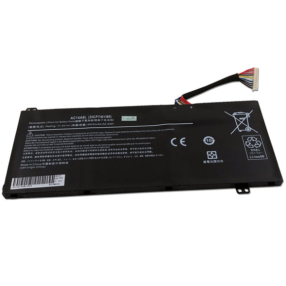 52.5Wh Laptop Generic Battery For Acer Aspire VN7-571 VN7-572 VN7-572G VN7-591 AC14A8L