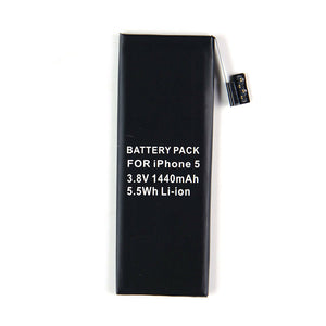 3.8V 1440mAh Li-ion Generic Battery For iphone 5 Mobile With 5 PCS Tools Black US