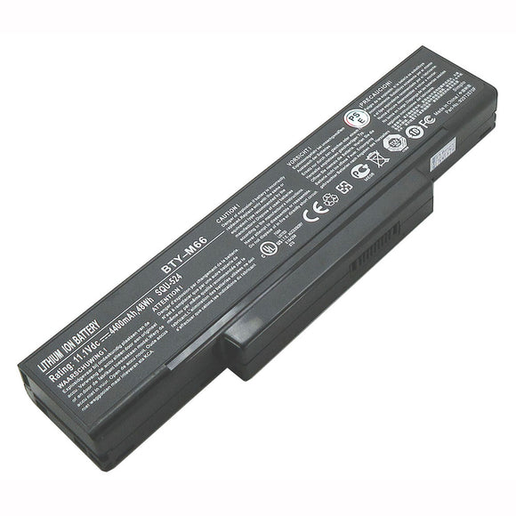 NEW laptop Generic Battery fit MSI BTY-M68 BTY-M66 BTY-M67 M670 MS-1632 M673 SQU-528
