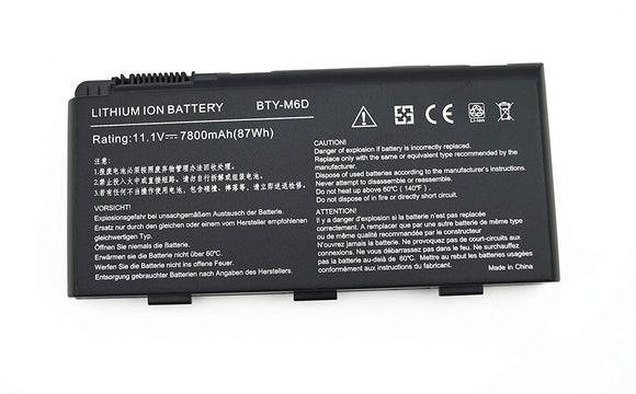 9Cell 7800mAh Generic Battery BTY-M6D For MSI GT60 GT70 GX60 GT660(R) GT780(R) GT663