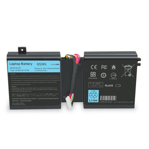 65Wh Laptop Generic Battery For Dell Alienware M17X R5 / M18X R3 2F8K3 0G33TT 0KJ2PX