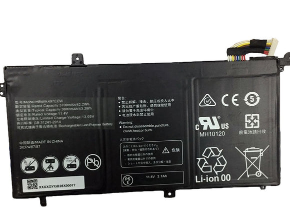 New 42.2Wh HB46K497ECW Generic Battery for Huawei Matebook D Series Laptop 3700mAh 11.4V