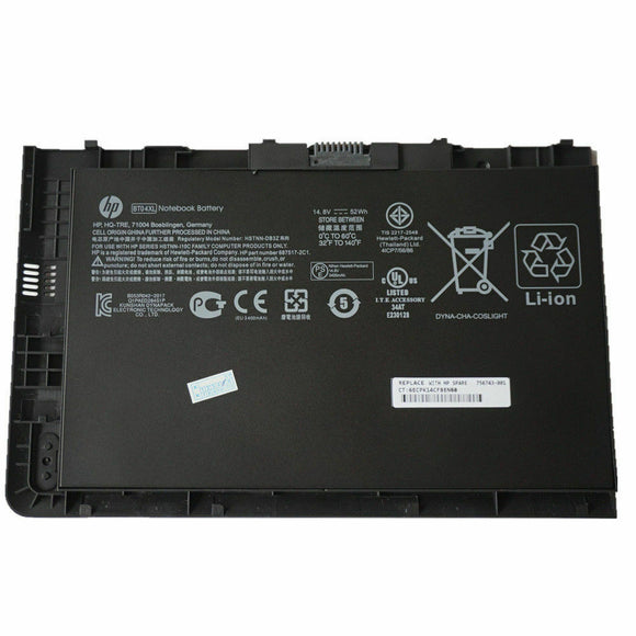 OEM 52WH BT04XL Battery For HP EliteBook Folio 9470M 9480M HSTNN-DB3Z 687945-001