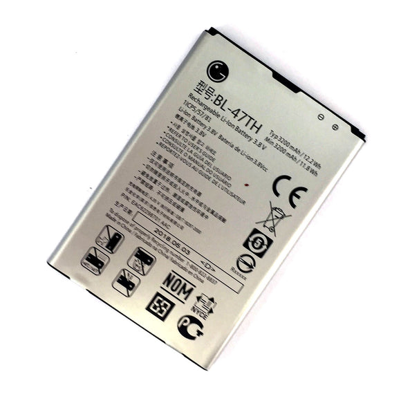 For LG G Pro 2 Cell Phone Li-ion Battery 3200mAh 3.8V 11.9Wh BL-47TH EAC62298601
