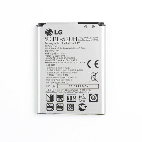 OEM New Original BL-52UH LG Cell Phone Li-ion Battery Replacement 2100mAh 3.8V