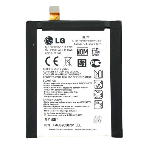 New OEM Original LG BL-T7 G2 Battery 3000mAh for D800 D801 LS980 VS980 Genuine