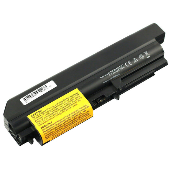 6 Cell Generic Battery For IBM Lenovo ThinkPad T61 R61 T400 R400 T61p R61i T61u 42T5229