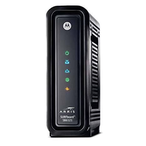 Arris Motorola SURFboard SB6121 Docsis 3.0 Cable Modem Cable One, Spectrum, Charter, Atlantic Broadband, Cox, Wide Open West / WOW