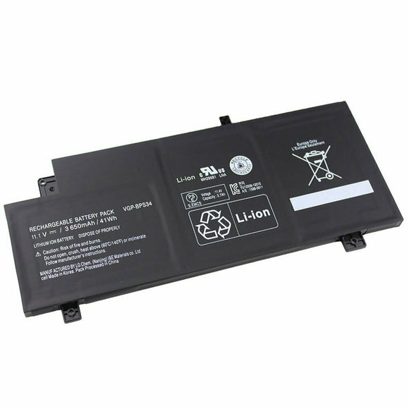 New Generic Battery For Sony Vaio SVF15A SVF14A Series Laptop SVF15A16SCB VGP-BPS34