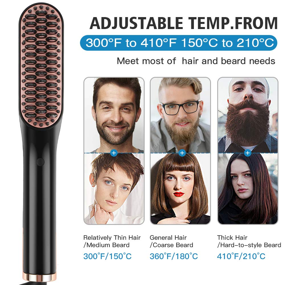 Professional Grade Ceramic Straightening Beard Comb For Men