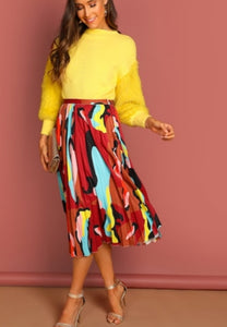 Safari Pleated Skirt