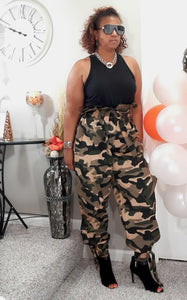 Camoflauge High Waist Pants