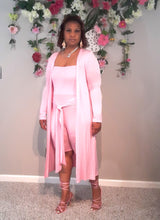 Tia Romper Set With Duster-Pink