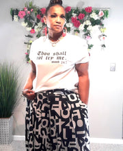 Thou Shall Not Try Me Top- Plus Size