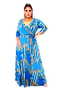 Milan Maxi Dress- Plus Size