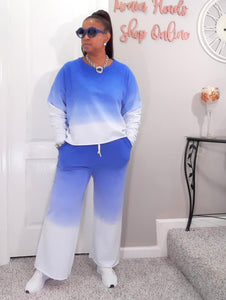 Faded Lounge Set-Blue S to XL