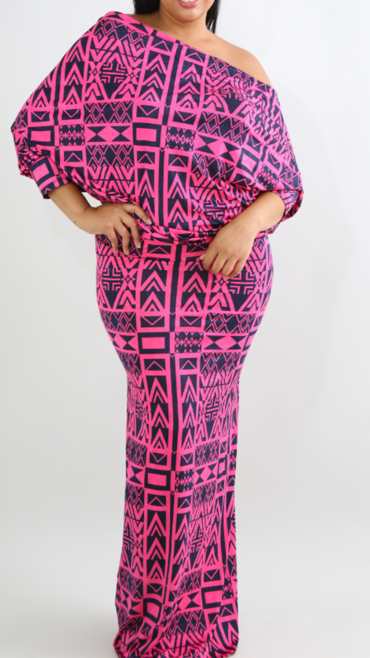 Anyway Shoulder Maxi Dress-Plus Size