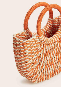 Ring Woven Small Tote Bag