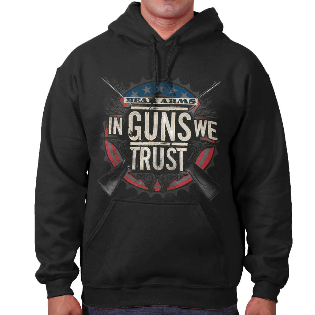Black|In Guns We Trust Hoodie|Tactical Tees